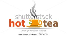 Vector shape cup of hot coffee, for a logo or symbol effort taverns - stock vector