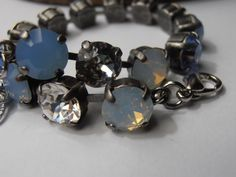 Air Blue Opal 8mm Pastel Vintage Swarovski by ParisiJewelryDesigns, $35.00