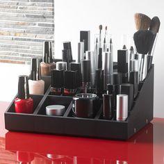 Rangement maquillage modulable - Uniq Organizer - Pack Organisateur Maquillage Essentiel : Regard, Lèvres, Visage et Vernis à Ongles - Noir - www.uniqorganizer.com