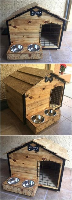 Use Pallet Wood Projects to Create Unique Home Decor Items – Hobby Is My Life Cheap Dog Houses, Cool Dog Houses, Diy Pallet Projects, Easy Diy Projects, Pallet Ideas, Project Ideas, Dog House Heater, Pallet Dog House, House Dog