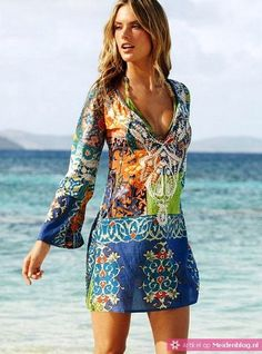 aztec dress beach summer Style outfit fashion apparel women clothing blue