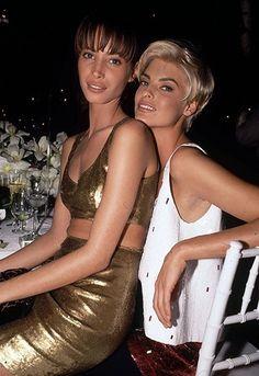 """lalinda-evangelista: """"Christy Turlington & Linda Evangelista (90s) """""""