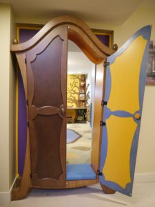 The Ultimate Playroom: Enter through a magical armoire! Pix of interior after the jump. (Straight Line Designs) play area for the grandkids