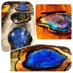 Resin Wood Table 27
