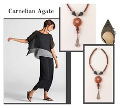 """Carnelian Agate"" by sibaru ❤ liked on Polyvore featuring moda e Jimmy Choo"