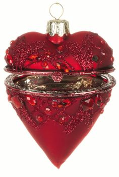 "Sullivans - HEART BOX 3.5"" RE.  GREAT for your Wedding Wish Tree!  I have several HUNDRED of these for sale ($7.95 each)…I will be selling them when I unveil my new business in August, 2014 (CANDELABRA CENTERPIECE RENTALS  MORE BY NATALIE).  Please email me if interested in purchasing any of these beautiful ornaments:  mkilbrideadams56@yahoo.com"
