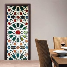 3D Kaleidoscope Door Wall Mural Wallpaper Stickers Removable Decals for Home New Decoration Wall Vinyl