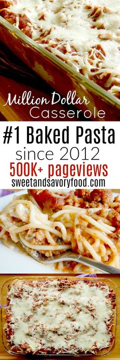 A wonderful comfort meal! Super popular since 2012 - a creamy filling inside pasta, sauce and cheese - baked until bubbly. Beef Casserole Recipes, Bacon Recipes, Casserole Dishes, Cooking Recipes, Shrimp Recipes, Quiche Recipes, Pasta Recipes, Fast Dinners, Cheap Dinners