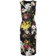 Strapless Printed Midi Dress (€887) ❤ liked on Polyvore featuring dresses, sleeveless midi dress, dolce gabbana dress, multicolor dresses, colorful dresses and multi-color dresses