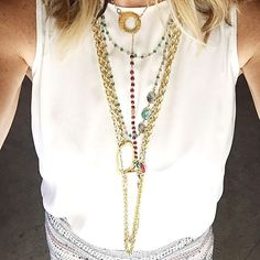 Let your blouse be your canvas 💕 Our necklaces are made to be mixed, matched, and layered