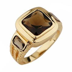 Suohuan Men's Jewelry Brown Cubic Zirconia Princess Cut Yellow Gold Gemstone Ring Gift Size 12. Material :Yellow Gold plated + AAA Quality Brilliant Brown Cubic Zirconia. Flawless AAA Grade Cubic Zirconia that reveals brilliant shine and a meticulous cut. Chic and sophisticated, this ring is a wardrobe staple. And suitable for any occasion, dressy or causal. Easy to match the clothes. Best gift for Fathers day,Graduation,Birthday,Anniversary,Wedding,Christmas day for dad,mom,girlfriend...