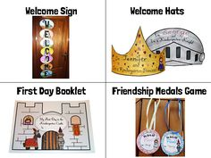 Back To School Knights and Princesses! - First Day - Editable Castle Theme Classroom, Forest Classroom, First Grade Classroom, Classroom Themes, School Classroom, Beginning Of The School Year, First Day Of School, Fairy Tale Theme, Fairy Tales