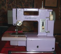 Vintage featherlite sewing machine. Join the Yahoo Group featherlites to share info about this machine.