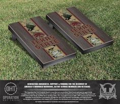 Texas State University, San Marcos Bobcats Operation Hat Trick Camo w/ Stripe Bag Toss Set