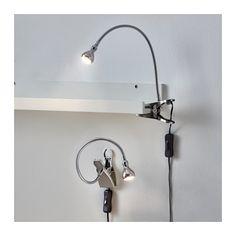 JANSJÖ Led-seinä-/nipistinkohdevalaisin - hopea - IKEA