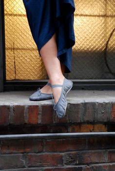 Charcoal Ballet Shoe | Charcoal Ballet Flat | Charcoal Ballet Slipper | Linge Shoes