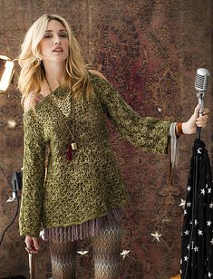 Ravelry: #32 Tunisian Lace Tunic pattern by Mary Beth Temple - this is just gorgeous! Just need to decide on the yarn ;)