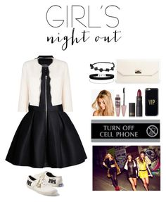 """girls night out"" by littlelook on Polyvore featuring Keds, Jacques Vert, Boohoo, Miss Selfridge, U.S. Stamp & Sign, Casetify, Lipstick Queen, Maybelline and girlsnightout"