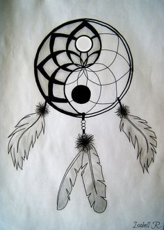 Yin Yang in a Dreamcatcher Tattoo Ideas - Tattoos xx Tatuajes Yin Yang, Yin Yang Tattoos, Dream Catcher Drawing, Dream Catcher Tattoo, Dream Drawing, Drawings Of Dream Catchers, Dream Catcher Painting, Life Drawing, Easy Elephant Drawing