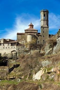 paisaje en Rupit (ciudad histórica en Cataluña)