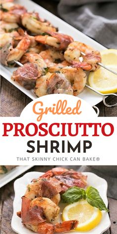 Prosciutto Wrapped Shrimp with Basil Lemon Marinade - The BEST grilled shrimp recipe you'll ever taste! Makes an excellent seafood appetizer. Fun Easy Recipes, Supper Recipes, Sweet Recipes, Barbecue Recipes, Grilling Recipes, Homemade Desserts, Fun Desserts, Seafood Appetizers, Delicious Appetizers