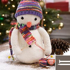 Yarnspirations is the spot to find countless free intermediate knit patterns, including the Red Heart Knitting Snowman. Browse our large free collection of patterns & get crafting today! Knitting Paterns, Christmas Knitting Patterns, Christmas Sewing, Free Knitting, Knit Patterns, Christmas Crafts, Christmas Decorations, Snowman Images, Knee High Stockings