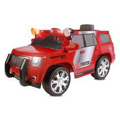 "Rollplay GMC Yukon Denali Fire Rescue 6 Volt Ride On - Rollplay - Toys ""R"" Us"