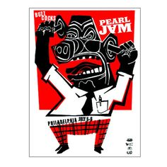 Pearl Jam 2003 Philly 2nd Night Poster – Ames Bros