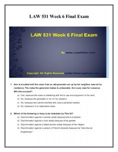 Get instant help for Business LAW 531 Week 6 Final Exam UOP HomeWork Tutorial (University of Phoenix). We specialize in providing you the correct answers for the course. College Problems, Final Exams, Finals Week, Travel Humor, Organic Chemistry, Biotechnology, Law School, Homework, Education