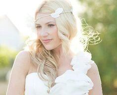 Wedding Flower Crown Tiara Whimsical wedding bridal by deLoop
