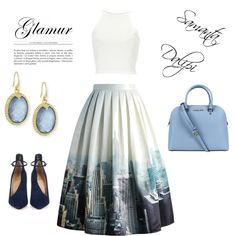 A fashion look from September 2015 featuring Chicwish skirts, Christian Louboutin pumps and Michael Kors handbags. Browse and shop related looks.