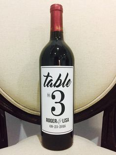 Table Numbers Wine Bottle Labels by NeesesCreations on Etsy Wedding Reception Tables, Wedding Favors For Guests, Wedding Favor Tags, Wedding Table Numbers, Wedding Sets, Wedding Decor, Mr Mrs, Number Labels, Wedding Wine Bottles