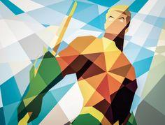 Geometric Art: Aquaman