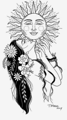 Cool Art Drawings, Pencil Art Drawings, Art Drawings Sketches, Tattoo Drawings, Tattoo Sketches, Unique Drawings, Cute Tattoos, Body Art Tattoos, Ocean Tattoos