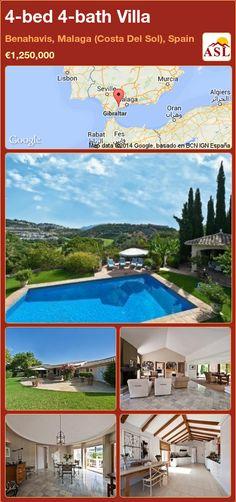 4-bed 4-bath Villa in Benahavis, Malaga (Costa Del Sol), Spain ►€1,250,000 #PropertyForSaleInSpain
