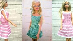 Barbie Crochet Dress and Handbag a Free Pattern by Lyn's Doll Clothes – Crocheted Buddies Doll Clothes Barbie, Crochet Doll Clothes, Barbie Dress, Doll Clothes Patterns, Crochet Dolls, Clothing Patterns, Barbie Doll, Crochet For Kids, Free Crochet