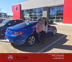 https://flic.kr/p/DvBKCH | Congratulations Rhonda on your #Hyundai #Genesis Coupe from Donald Walker at Fiat of Dallas! | deliverymaxx.com/DealerReviews.aspx?DealerCode=F741