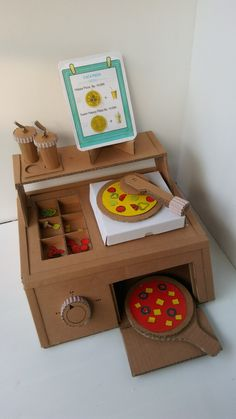Elegant Diy Cardboard Crafts Ideas For Kids Toys To Try Right Now 44 Cardboard Kitchen, Cardboard Box Crafts, Cardboard Toys, Cardboard Furniture, Cardboard Playhouse, Fun Crafts, Diy And Crafts, Paper Crafts, Diy For Kids