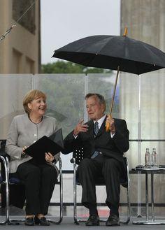 Angela Merkel and bush
