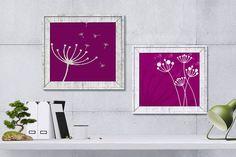 Printable DandelionsWhite Dandelions by HappyartWorkshop on Etsy