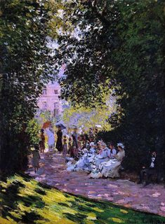 Claude Oscar Monet The Parc Monceau - Hand Painted Oil Painting Famous Paintings Monet, Impressionist Paintings, Oil Paintings, Oil Painting For Sale, Oil Painting On Canvas, Painting Prints, Claude Monet, Landscape Art, Landscape Paintings