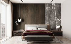 Project Wood on Behance Bedroom Bed Design, Modern Bedroom Design, Home Bedroom, Bedroom Decor, New Beds, Suites, Luxurious Bedrooms, Interiores Design, Living Room Designs