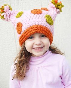 Polka+Pom+Hat+Crochet+Pattern+Permission+to+sell+by+adrienneengar,+$4.99