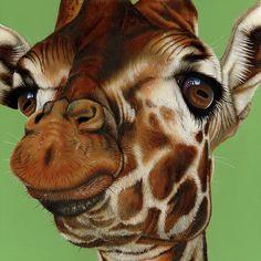Giraffe Painting - Giraffe Fine Art Print