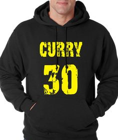 Hoodie Curry 30 Hooded Golden State Basketball Sweatshirt Handmade Printed #1108 from $24.99 at xpressiontees.etsy.com   #ExpressionTees