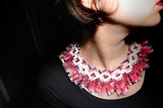 pixelated necklace