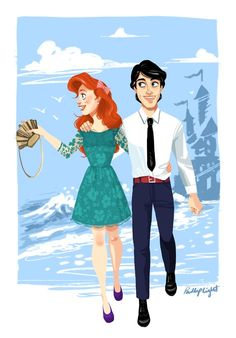 Modern Ariel and Prince Eric by Phillip Light