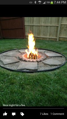 Transform an ordinary fire pit into something extraordinary! Transform an ordinary fire pit into something extraordinary! Diy Fire Pit, Fire Pit Backyard, Backyard Patio, Fire Pit Plans, Outside Fire Pits, Outdoor Fireplace Designs, Fire Pit Area, Fire Pit Designs, Backyard Projects