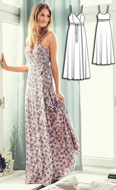Wrap Dress Burda Jul 2016 #102 Pattern $5.99: http://www.burdastyle.com/pattern_store/patterns/wrap-dress-072016