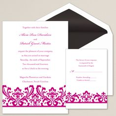 Exclusively Wedding's Enchanted Love Affair Wedding Invitation is sophisticated and elegant.